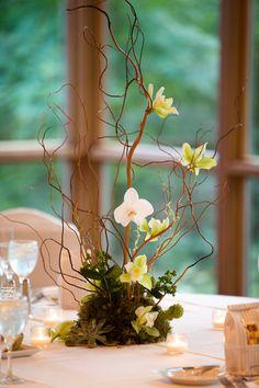 Branch and orchid centerpiece (Stemline Creative)
