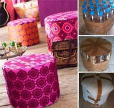 Fall in Love With Big Bean Bag Chairs – They Are Trendy Again! Reuse Plastic Bottles, Plastic Bottle Crafts, Recycled Bottles, Diy Crafts Hacks, Diy Home Crafts, Diy Projects, Diy Upcycling, Diy Recycle, Big Bean Bag Chairs