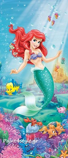The Little Mermaid World Map Coloring Page, Coloring Pages, Ariel Mermaid, Doodle Art, Disney Characters, Fictional Characters, Disney Princesses, The Little Mermaid, Diy Art