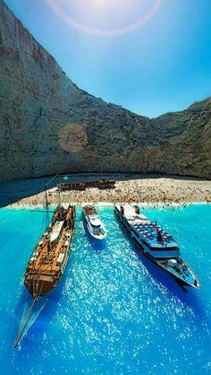 #Navagio Beach, #Zakynthos, #Greece