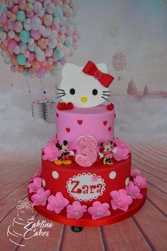 Hello Kitty Cake - cake by Zaklina Camo Wedding Cakes, White Wedding Cakes, Hello Kitty Cake, Hello Kitty Birthday, Shoe Cakes, Purse Cakes, Kids Planner, Dragon Cakes, Cake Wrecks