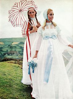 Modern Bride Magazine, 1970 shows some fashionable options for the traditional bridal veil. Check out the hats, caps and scarves below- (Photos- Gordon Munro) Related Nibs posts- Then&Now: Wedd…