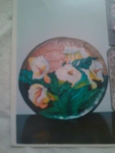Batea pintada en oleo