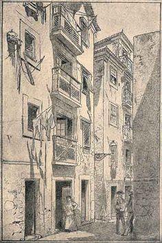 Rua de Sao Miguel Alfana - Portugal velha   drawing