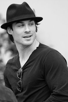Ian Somerhalder - hot even in a black and white shot.