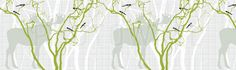 Rhubarb - Spring Green - Wall Mural & Photo Wallpaper - Photowall