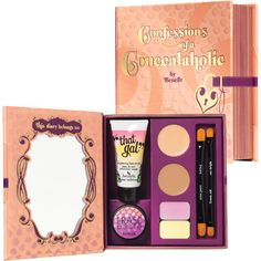 Benefit Cosmetics' Confessions of a Concealaholic Makeup Gift Sets, Makeup Kit, Beauty Makeup, Makeup Stuff, Erase Paste, Sr1, Concealer Brush, Christmas Gift Guide, Benefit Cosmetics