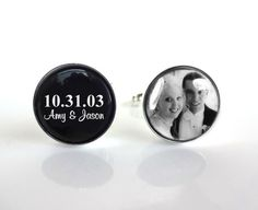 Hey, I found this really awesome Etsy listing at https://www.etsy.com/listing/151382600/sale-custom-photo-wedding-cufflinks-name