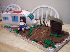 redneck cakes - Google Search Redneck Cakes, Redneck Wedding Cakes, Redneck Party, Gorgeous Cakes, Amazing Cakes, Trailer Trash Party, White Trash Bash, Cupcake Cakes, Fun Cakes