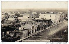 RP: Bird's Eye View Main Street , YELLOW GRASS , Saskatchewan , Canada , PU-1912 Item number: 145908092 SCVIEW - Delcampe.com