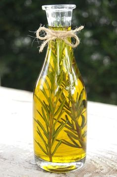 Hand infused Olio di Rosmarino [oil infused with rosemary]