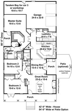 Plan 2566DH: Charm With Amenities