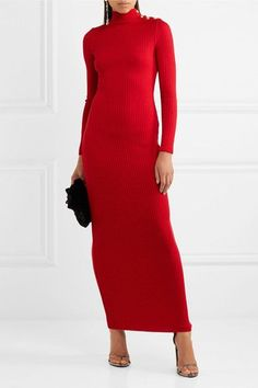 Red merino wool  Slips on  100% merino wool  Dry clean Designer color: Rouge Made in France