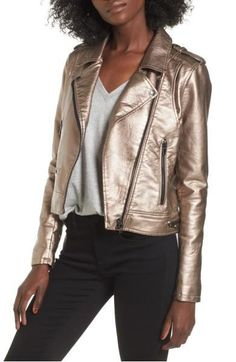 098c17119d64 Shop for Women s Blanknyc Metallic Faux Leather Moto Jacket by Blank NYC at  ShopStyle.