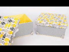 Artesanato Em MDF Caixa com Tecido e Craquele - YouTube