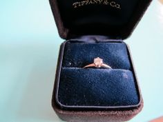 Tiffany & Co. Round Brilliant Diamond Platinum Engagement Ring, .23cts E/VVS2 #TiffanyCo #Solitaire