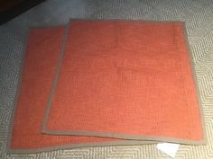 POTTERY BARN BASKETWEAVE PILLOW COVERS 20x20 New 2 Each