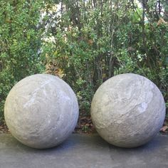 Pair of carved stone garden balls. Price is per pair. Other sizes available.An RT Facts Find