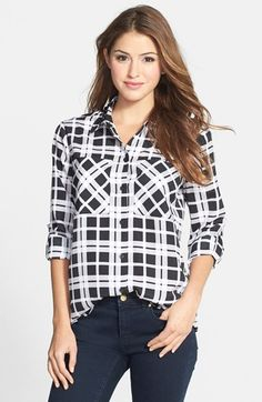 MICHAEL Michael Kors 'Townsend' Embellished Plaid Blouse (Regular & Petite) available at #Nordstrom