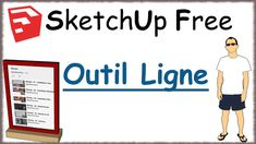 Sketchup Free - 08 - Outil Ligne / Line Tool Sketchup Free, Line Tools, Tech Companies, Company Logo, Trainers, Learning, Tools