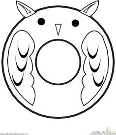 This fun alphabet coloring page will have your child coloring an ocular owl while learning the shape and sound of the letter O. Alphabet Crafts, Alphabet Art, Animal Alphabet, Letter A Crafts, Learning The Alphabet, Letter O Activities, Letter O Worksheets, Free Worksheets, Alfabeto Animal