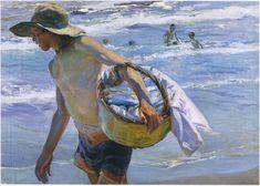 Fisherman in Valencia Joaquin Sorolla y Bastida - 1904 Painting - oil on canvas