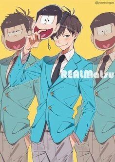 Osomatsu-san- Osomatsu, Ichimatsu, and Jyushimatsu Hot Anime Guys, Anime Love, Manga Anime, Anime Art, Haikyuu, Osomatsu San Doujinshi, Otaku, Drawn Art, Anime Lindo