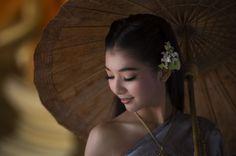 Thai girl in traditional thai dress
