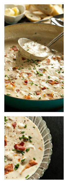 Comfort and delicious!! Best Clam Chowder on ReluctantEntertainer.com