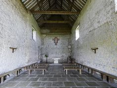 St Peter-on-the-Wall, Bradwell-on-Sea, Interior    All that remains of this Celtic cathedral is the nave