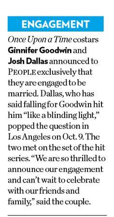 Josh and Ginny's Engagement News   People Magazine (Mischa Barton Cover)