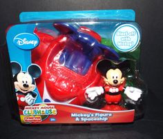 Disney Mickey Mouse Clubhouse MICKEY & SPACESHIP Figure NEW! #FisherPrice