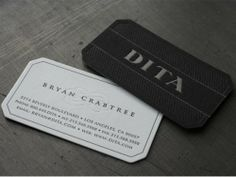 27 Stunning Black Letterpress Business CardsDita Eyewear Business Cards by Beast Pieces These are the brand new cards for Dita Eyewear in Los Angeles designed by Bryan Crabtree. The blind flourish on the light side and the diamond pattern on the black gives these cards a tonal and elegant look.