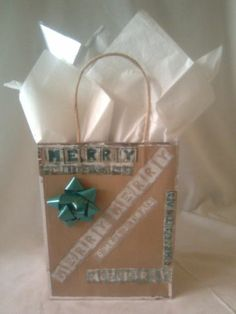 Bidding has started on this item, plus Free Shipping! Merry Christmas Handcrafted Gift Bag