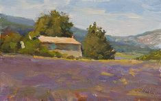 19cm x 12cm, oil on board Painting status: SOLD Daily painting for Saturday 27 June, 2015  daily painting titled House in the lavender - click for enlargement