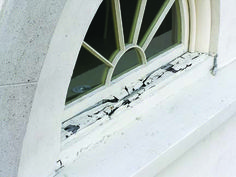 window ledge shelf   How to Repair Dry Rotted Window Sills Rotting window sill ...