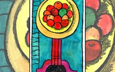 Matisse's Apples by Easy Peasy Art School. Create your own version of Henri Matisse's Famous painting using our step by step online art school for teachers and kids.