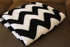 Chevron Crochet Blanket- My favorite crochet stitch. Maybe once I finish the one I am working on now I will do a black and white one.