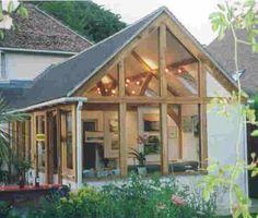 Oak framed extension - high ceiling