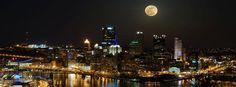 Big Moon Over Pittsburgh