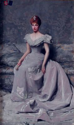 Portrait of Elena d'Orleans duchessa d'Aosta, 1898 by Giacomo Grosso (Italian 1860–1930)