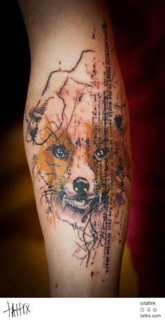 """""""...because of the color of the wheat fields"""". The little Prince, Fox, Antoine de Saint Exupéry, Paul Talbot tattoo"""