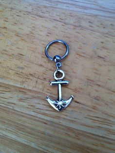 Anchor captive bead ring  Belly Button Ring by ChelseaJewels, $13.50