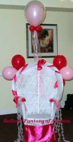 Baby Shower Chair Decorated W/Balloons