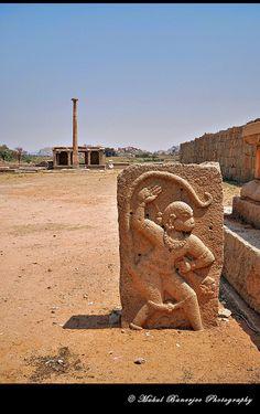 Hanuman statue, Pan Supari Baazaar, Hampi, Karnataka