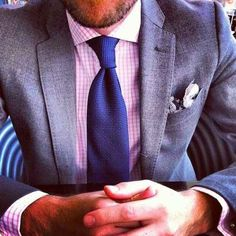 Your tie should always be darker than your dress shirt.