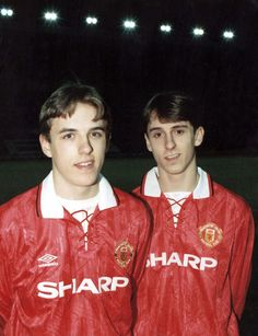 Phil and Gary Neville pictured in 1994