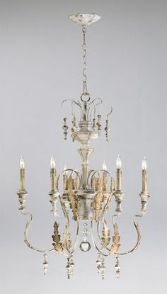 Cyan Design 04170 Traditional / Classic 6 Light Up Lighting Chandelier from the Motivo Collection - LightingDirect.com