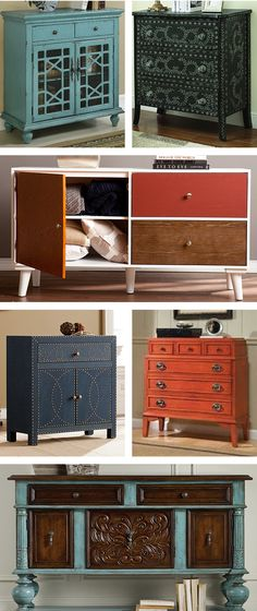 Complement your decor and enjoy extra storage with our favorite accent cabinets. Visit Wayfair and sign up today to get access to exclusive deals everyday up to 70% off. Free shipping on all orders over $49. Old Furniture, Distressed Furniture, Furniture Making, Furniture Makeover, Painted Furniture, Furniture Projects, Refurbished Furniture, Repurposed Furniture, Furniture Plans