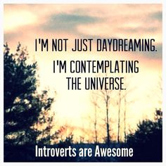 Introverts // Oh, you know. Just contemplating the universe. No big deal.